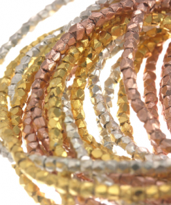 Karen Hill Tribe silver - Gold vermeil